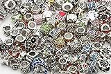 I LOVE DIY 45g Perles en Strass d'argent Compatibles avec Les Bracelets de Européens