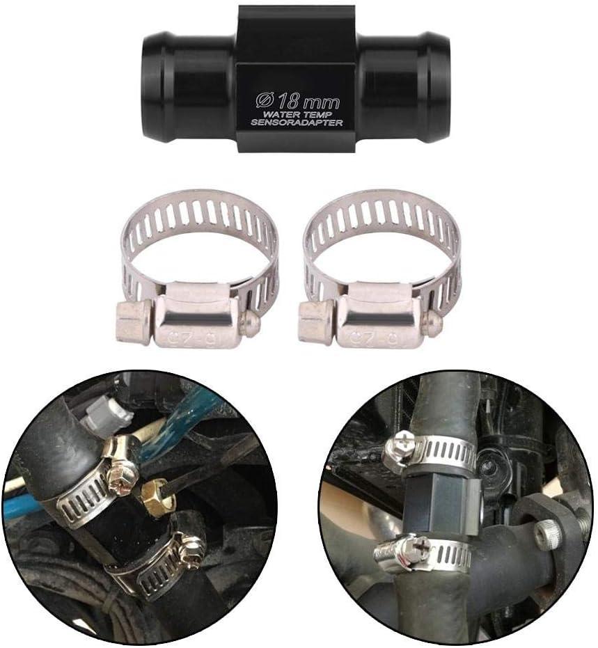 Universal Motorcycle Water Temp Temperature Joint Pipe Hose Sensor Gauge Adapter Acouto Black Water Temp Adapter 18mm