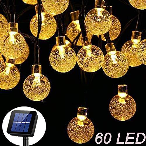 Solar Garden Lights, 60 LED Outdoor String Lights Crystal Ball Fairy Lights...