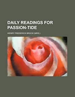 Daily Readings for Passion-Tide