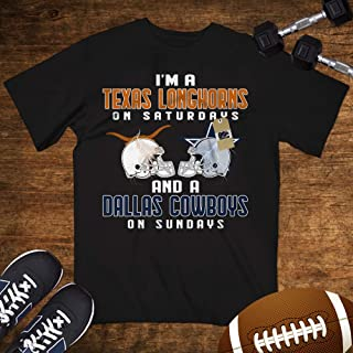I'm A Texas On Saturdays And A Cowboy On Sundays Shirt Customized Handmade Hoodie/Sweater/Long Sleeve/Tank Top/Premium T-shirt