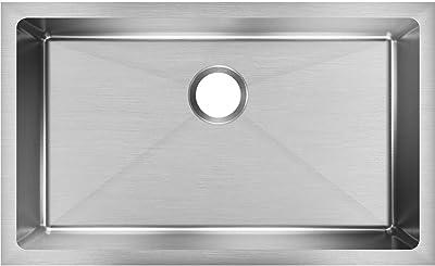 """Elkay EFRU2816T Sink, 8.00"""" x 30.00"""" x 18.50"""", Stainless Steel"""