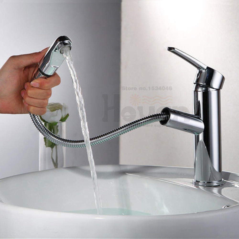 Helle polierte Plattform angebracht unter Gegenbassin ziehen Hahnqualittsmessingbadezimmer-Wassermischer heraus
