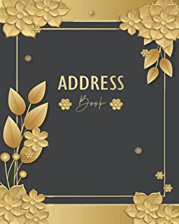 ADDRESS BOOK: Amazing Address Book, Tabbed in Alphabetical Order, Perfect for keeping Track of Names, Addresses, Phone Num...