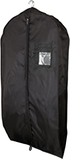 HANGERWORLD Super Strong Waterproof Black Nylon Suit Cover Bag - 44