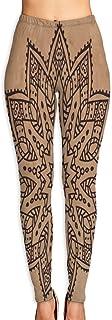 Cyloten Vintage Mandala Persian Boho Yoga Pants Washable Legging Tights Quick Dry Sportswear for Women Girl Workout