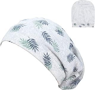 Womens Satin Lined Slouchy Sleep Cap Chemo Beanies Bonnet Slap Cap Elastic Band for Loss Hair
