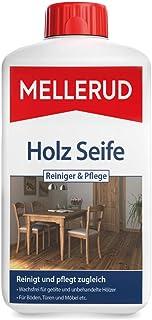 Mellerud Holz Seife Reiniger & Pflege – Kraftvoller Schutz für alle geölten und unbehandelten Holzoberflächen im Innenbereich – 1 x 1 l