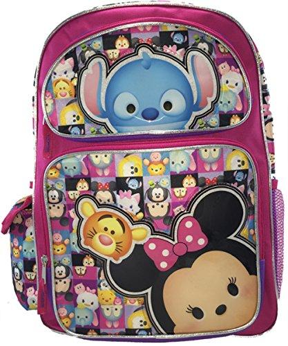 Disney Nuevo Love Tsum 16 pulgadas Lienzo estilo mochila rosa 3
