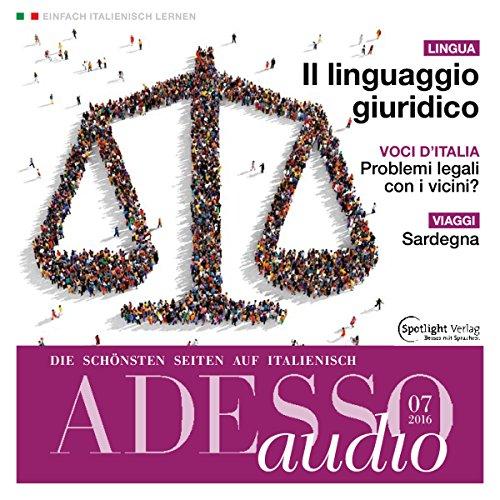 ADESSO Audio - Il linguaggio giuridico. 7/2016 Titelbild