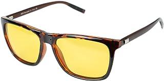 Duco Night Driving Glasses for Headlight Anti-glare Night Time Yellow Lenses 3029