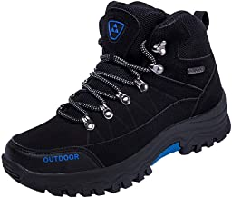 JJLIKER Men's New 2019 Ankle High Waterproof Hiking Boots Outdoor Lightweight Shoes Backpacking Trekking Trails Shoes