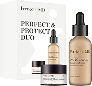 Perricone MD No Makeup Serum, Jumbo Size, SPF 30 and Face Finishing & Firming Moisturizer Bundle