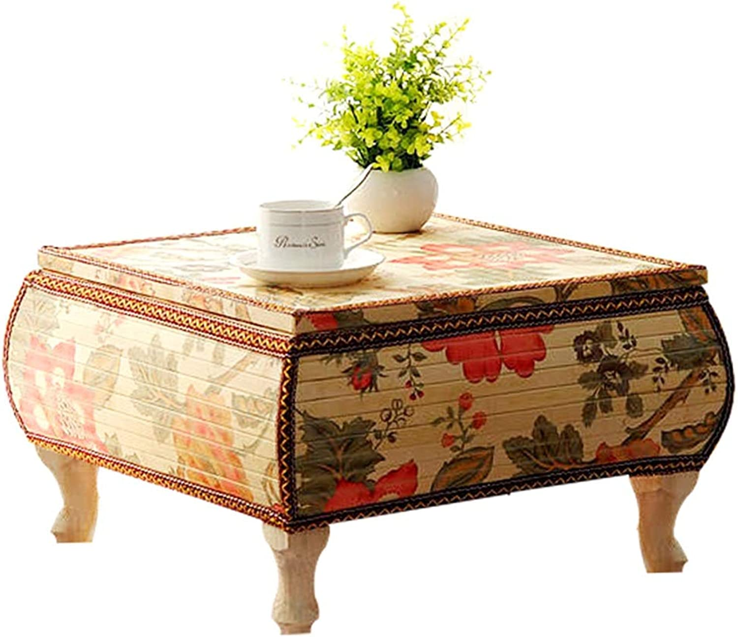 Table Tatami Coffee Table Bay Window Table Floating Table Balcony Table Coffee Table Square Table (color   Beige, Size   36  36  30cm)