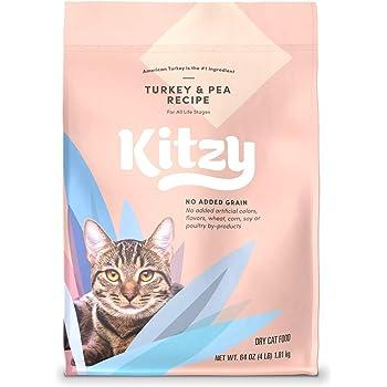 Amazon Brand – Kitzy Dry Cat Food, No Added Grains (Turkey/Whitefish & Pea Recipe)