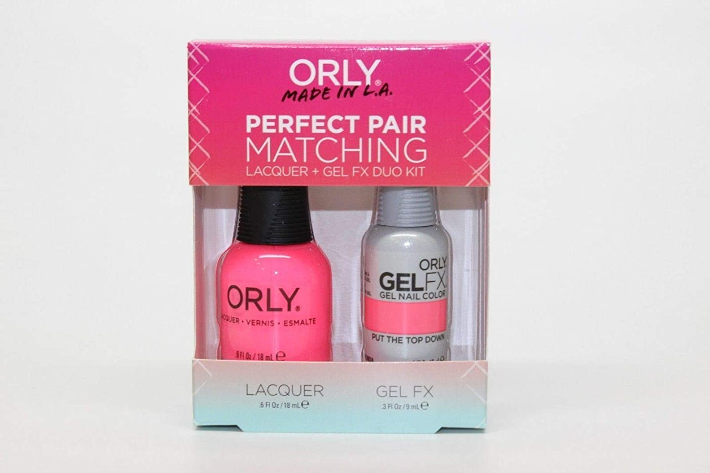 公爵夫人ズームインする刺繍Orly - Perfect Pair Matching Lacquer+Gel FX Kit - Put The Top Down - 0.6 oz / 0.3 oz