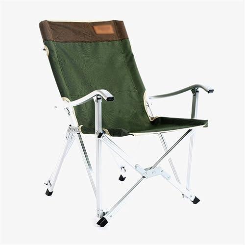 YJchairs Tabourets pliants avec Dossier siège Pliant Chaise de Plage avec accoudoir Chaise de pêche Ergonomique Portable Solide Pratique Loisirs