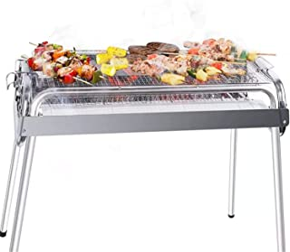 Barbecue grill Barbecue Portable BBQ Stainless Steel Outdoor Barbecue Folding Barbecue Kitchen Accessories Camping/Silver ...