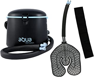 Cryotherapy and Hot Water Therapy System -  Circulating Personal Heat/Cooling Device by Aqua Relief with Universal Pad for Knee, Elbow, Shoulder, Back Pain, Aches, Swelling, Sprain, Injuries