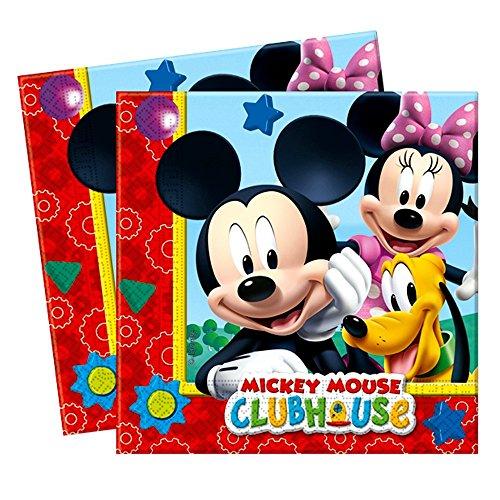 Mickey Mouse Tovaglioli   20 pezzi   Disney Festa per Bambini Compleanno