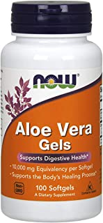 NOW Supplements, Aloe Vera (Aloe barbadensis) 10,000 mg, Supports Digestive Health*, 100 Softgels