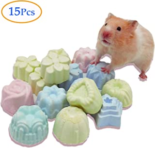 Chinchilla Lava Rock Chew Blocks for Teeth Hamster Pumice Stone Mineral Calcium Treats Gerbil Chewing Toys for Rodent Rats Guinea Pigs Rabbits Bunny Ferrets and Squirrels