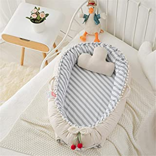 Baby Lounger Baby Bassinet Star Portable Co Sleeping Baby Bed Newborn Infant Baby Bed 100% Breathable Cotton Infant Lounge...
