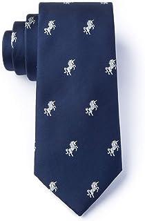 Men's Hipster Microfiber Unicorns Mystical Novelty XL Extra Long Tie Necktie