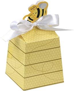 50 honungskaka presentförpackning med band baby shower födelsedagsdekoration godislåda