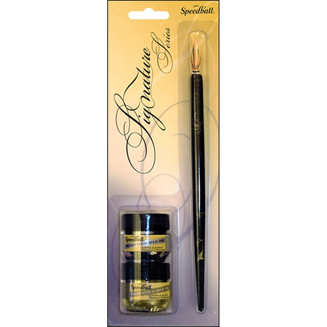 Speedball Signature Series Calligraphy Set, Gold and Silver