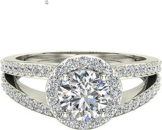 b97e7b9e0758a Amazon.com: Halo Women's Engagement Rings