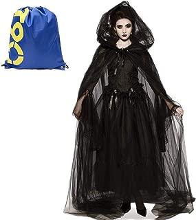 Donna Gotico Rose Veil Halloween Fancy Dress Party Costume Vestito Mini Cappello
