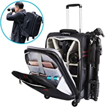CADeN Camera Backpack Trolley Case with Mute Alloy Axis...