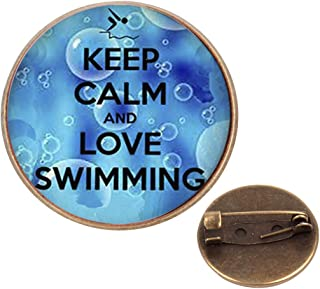 Pinback Buttons Badges Pins Keep Calm and Carry On Lapel Pin Brooch Clip Trendy Accessory Jacket T-Shirt Bag Hat Shoe