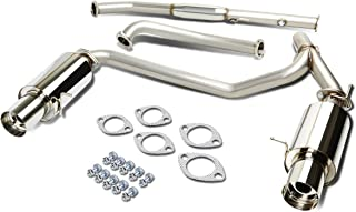 For Tiburon GK l4 Stainless Steel Dual 4 inches Muffler Tip Catback Exhaust System