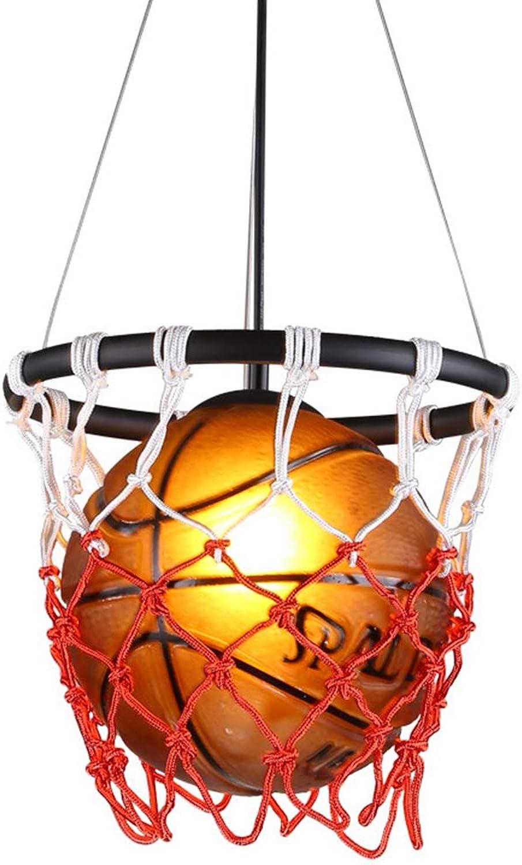 HWJF Kreativer Basketball-Kronleuchter Restaurant Bar Sport-Themenpark Turnhalle Dekoration Deckenleuchte Kunst Weben Basketball Deckenleuchte