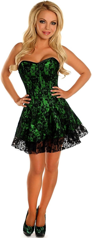 DaisyCorsets Lavish Green Lace Corset Dress