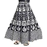 Rangun Women Maxi Skirt (SkirtL_66_White_Free Size)