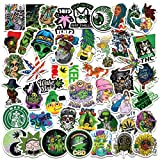 Weed Stickers| 50 Pcak | Larger Vinyl Waterproof Stickers for Laptop,Bumper,Water Bottles,Computer,Phone,Hard hat,Car Stickers and Decals,(weed-50)