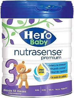 Hero Baby Nutrasense Premium 3 - Leche de Inicio en Polvo para Bebés hasta los 6 Meses, Crecimiento y Desarrollo - Pack de 2 x 800g