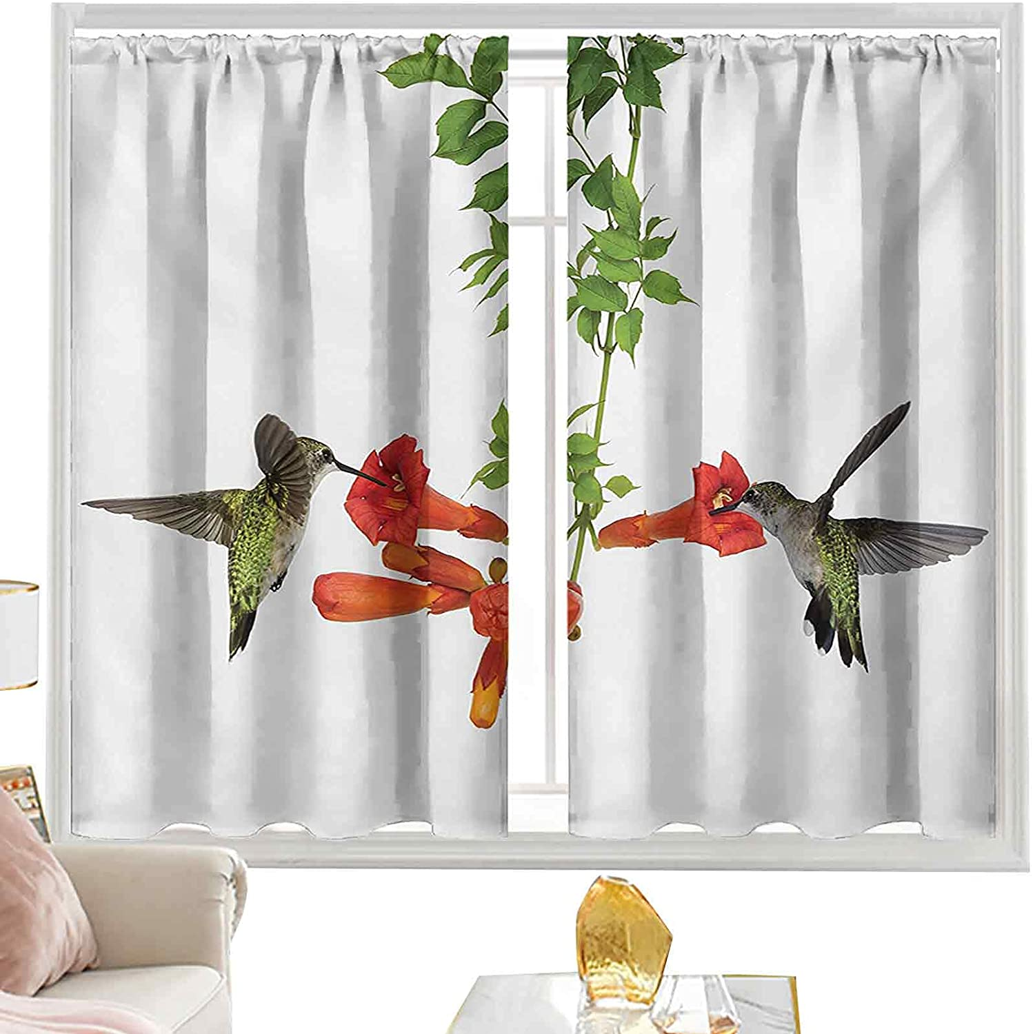 Blackout Curtain OFFicial mail order Rod Pocket Two Max 77% OFF Nectar fro Hummingbirds Sipping