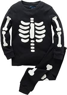 Boys Halloween Pajamas Skeleton Glow-in-The-Dark Toddler Sleepwear Kids PJS Size 1-8T