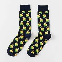 Personality Cotton Socks -4 Pairs Happy Tube Socks Fruit Banana Men's and Women's Socks,Fully Breathable
