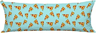 PKQWTM Cartoon Pizza Slice Long Body Pillow Case Cover Pillow Cushion 20x60 Inches