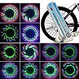 Bicycle Wheel Lights 32 LED Spinning Light Lamp Bike Accessories Valve Flashing Spoke