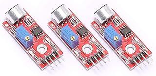 DEVMO 3PCS Mic Microphone Sensor High Sensitivity Sound Detection Module Compatible with Arduino PIC AVR