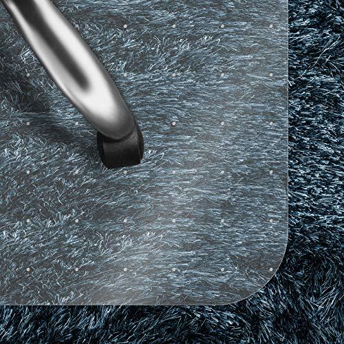 Bodenschutzmatte Transparent für Hochflor-Teppich | Schreibtischstuhl Unterlage für Büro und Wohnen | Bodenmatten wahlweise für Teppich/Hartböden (Hochflor-Teppich 90x120 cm)