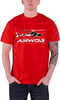 Airwolf Officially Licensed Merchandise Chopper Distressed T-Shirt (Red)