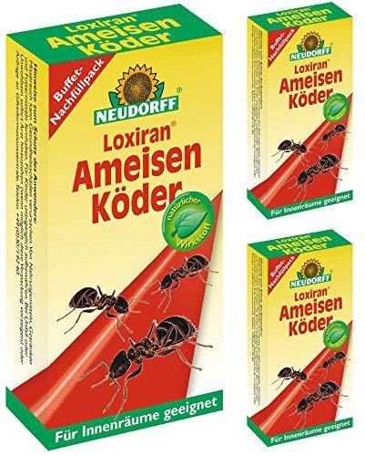 3 x 40 ml Neudorff Loxiran AmeisenKöder Ameisenmittel