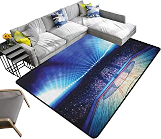 Basketball Indoor Floor mat Basketball Arena Court with Fans and Competition Theme Game Excitement Print 78